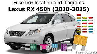 fuse box location and diagrams: lexus rx450h (2010-2015) - youtube  youtube