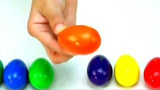 УЧИМ ЦВЕТА РИСУЕМ ПОЕМ ПЕСНЮ ДЛЯ ДЕТЕЙ | Цветные Яйца Карандаши | Stefan Eggs Learn Colors and Songs