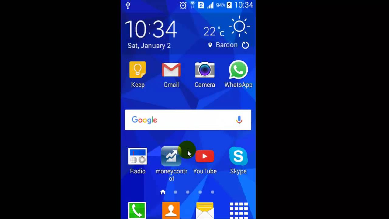 How to rearrange or move the app icons in Android phone