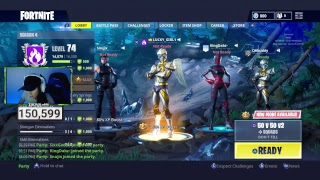 GIRL GAMER ROAD TO LEVEL 100 + NEW VENTURION SKIN FORTNITE BATTLE ROYALE!!!