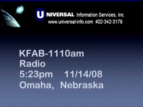 Interview with Tom Becka in Omaha on KFAB Radio Nov. 14, 2008