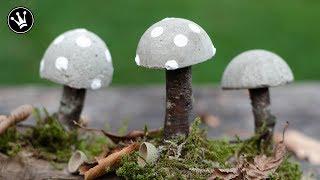 DIY - Herbstdeko selbermachen   Pilze aus Beton   herbstliche Tischdeko   How to