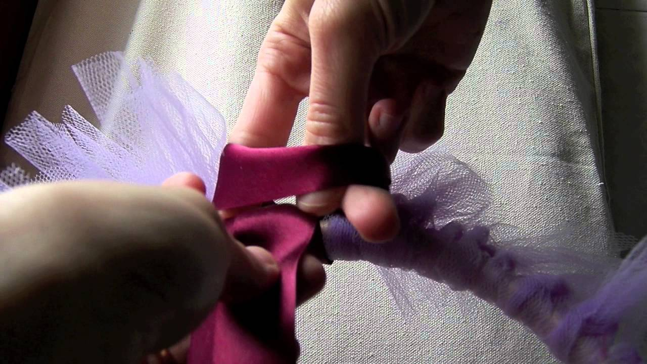 rivenditore online 20c78 087b8 Gonna di tulle e decorazioni - tecnica - YouTube