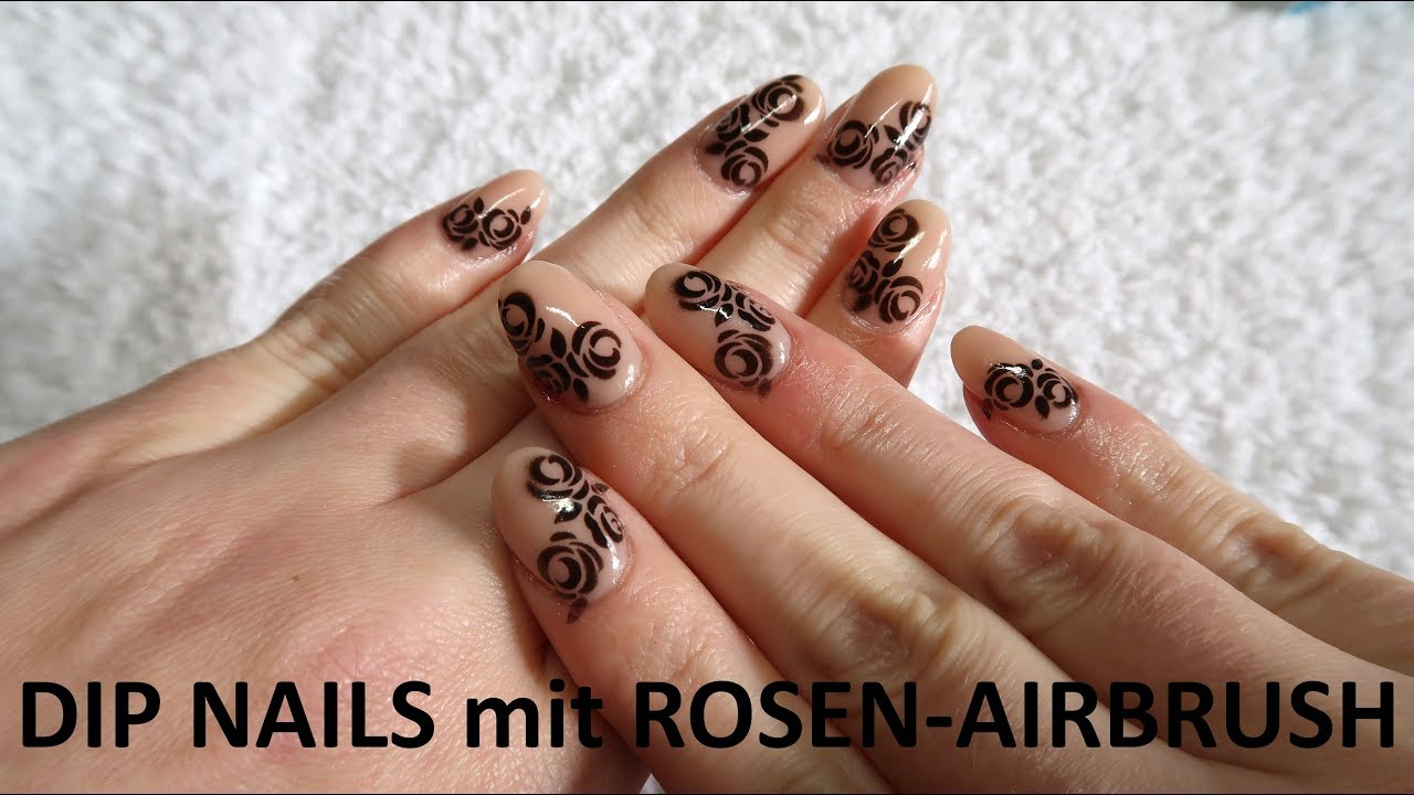 DIP NAILS mit ROSEN-AIRBRUSH   Nugenesis - YouTube