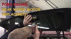 Ford Escape: Rear Wiper Motor Repair