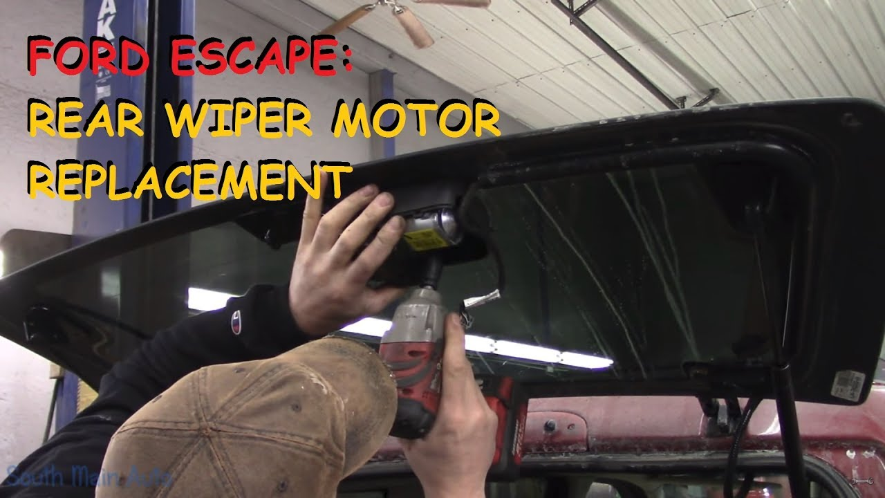hight resolution of ford escape rear wiper motor repair