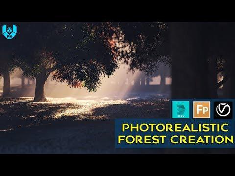 How To Create Photo Realistic Forest 2| 3Ds Max | Itoo Forest Pack