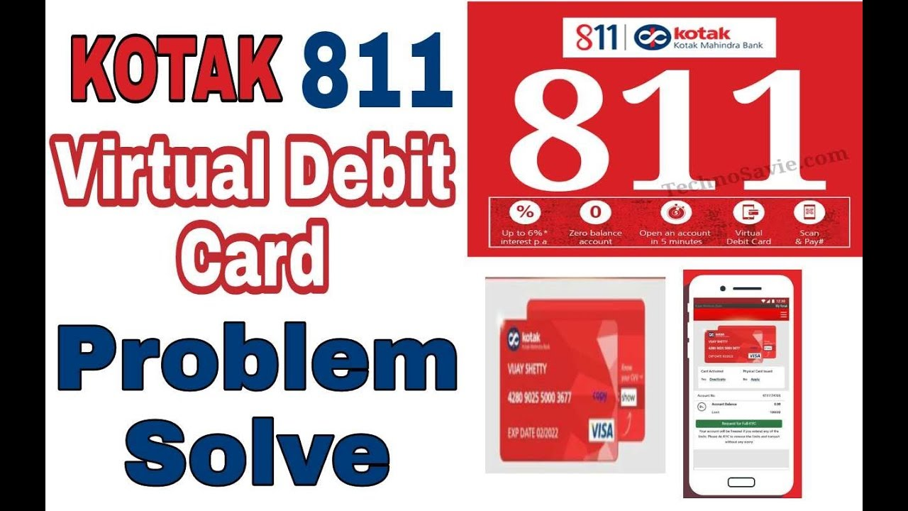 Problem Solve || Kotak 811 Virtual Debit Card Not Showing || August 2017