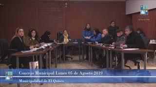 Concejo Municipal Lunes 05 de Agosto 2019