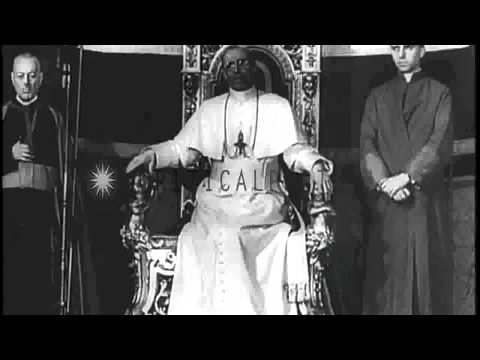 Pope Pius XII speaking English to Troops...