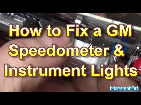 How To Fix A GM Gauges Speedometer & Instrument Lighting