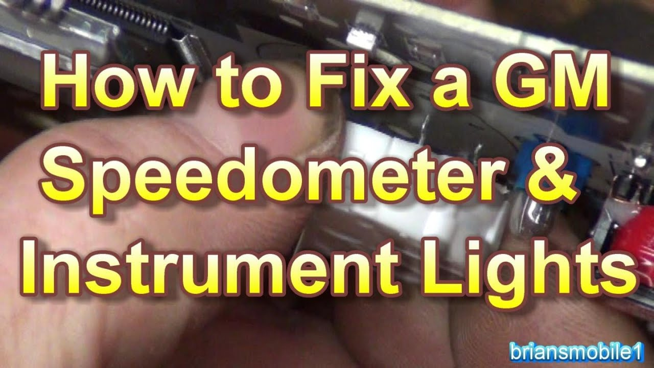 fix  gm gauges speedometer instrument lighting