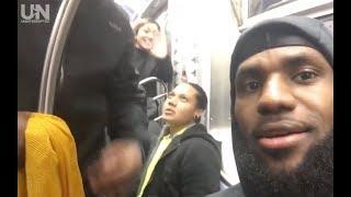 LeBron James Rides the New York City Subway