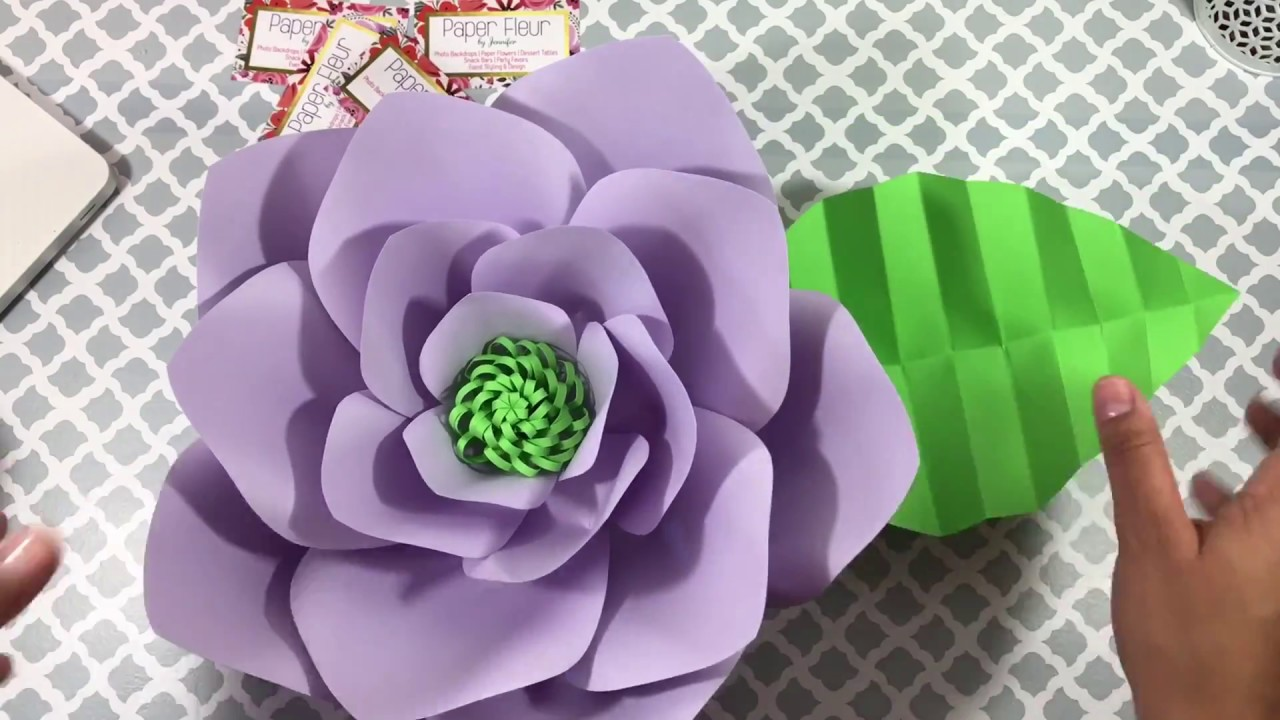 Easy Paper Leaf Tutorial How To Make Paper Flower Leaves How I Give My Paper Leaves A 3d Look
