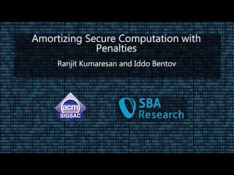 CCS 2016 - Amortizing Secure Computation with Penalties