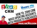 Zoho CRM Adding Account Product Details With Extra Custom Fields