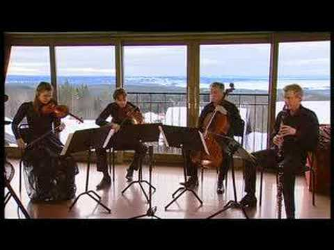 Martin Fröst clarinet plays Penderecki clarinetquartet 2