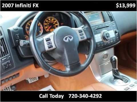 2007 infiniti fx used cars longmont co youtube for Victory motors trucks longmont