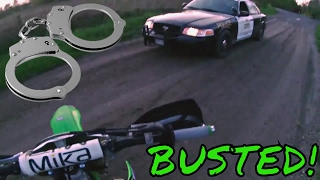 CAUGHT BY THE COPS FIRST TIME ON A DIRT BIKE!!! :Enduro Skills