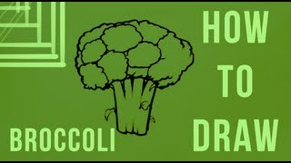 How To Draw Broccoli - Easy Things To Draw