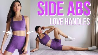 15 MIN SIDE ABS & LOVE HANDLES WORKOUT FOR SLIM WAIST | 28-Day Abs & Belly Challenge #EmiTransform