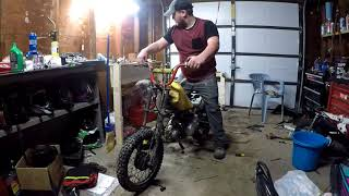 How install stator on Chinese pit bike and new garage project
