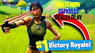 This Is How Default Skins Really Play Fortnite - #Stopthedefaultabuse