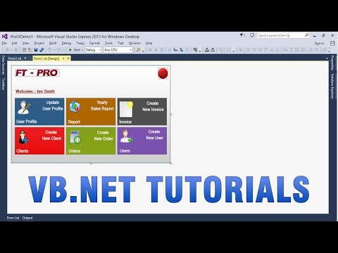 VB.NET Tutorials - Create Custom/Professional UI in WinForms app