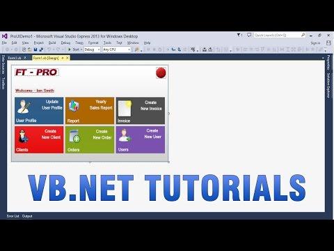 VB.NET Tutorials - Create Custom/Professional UI in WinForms app