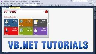 VB.NET دروس - إنشاء مخصص/المهنية واجهة المستخدم في التطبيق WinForms
