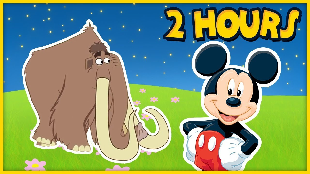 Over 2 HOURS of Nursery Rhymes, Disney Games, Dinosaur Songs + More