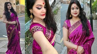 DURGA PUJA 2017 MAKEUP IN HINDI | TRADITIONAL BENGALI MAKEUP TUTORIAL | Indian Festive Makeup