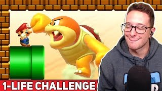 The Most STRESSFUL Mario Maker 2 Challenge... // 1-LIFE EXPERT CHALLENGE [#3]