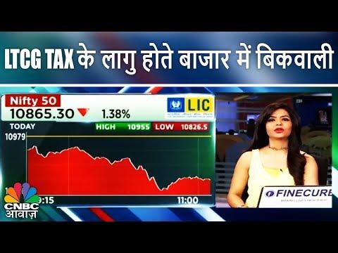 LTCG Tax के लागु होते बाजार में बिकवाली | Share Market After Budget | CNBC Awaaz