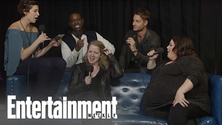 This Is Us 'Big Three' Try to Remember Their Chant And Kind Of Fail | PopFest | Entertainment Weekly