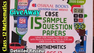 Oswaal class 12 mathematics sample paper CBSE exam 2020 Faadu sample paper
