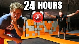 24 Hour Trampoline Park Fort!
