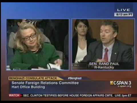 Rand Paul Grills Sec. of State Clinton on Benghazi: I Would Have Relieved You Of Your Post