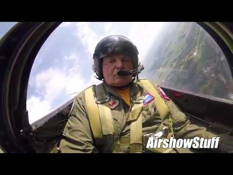 P-51 Cockpit Cam - Aerobatics and F-22 Heritage Flight