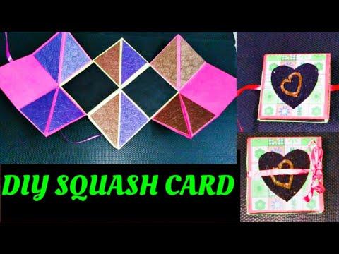 How To Make Squash Card For Scrapbook || DIY Squash Card || Paper Crafts || KK Telugu Channel Kumari