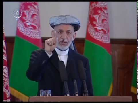 afghan president hamid karzai  message to the taliban