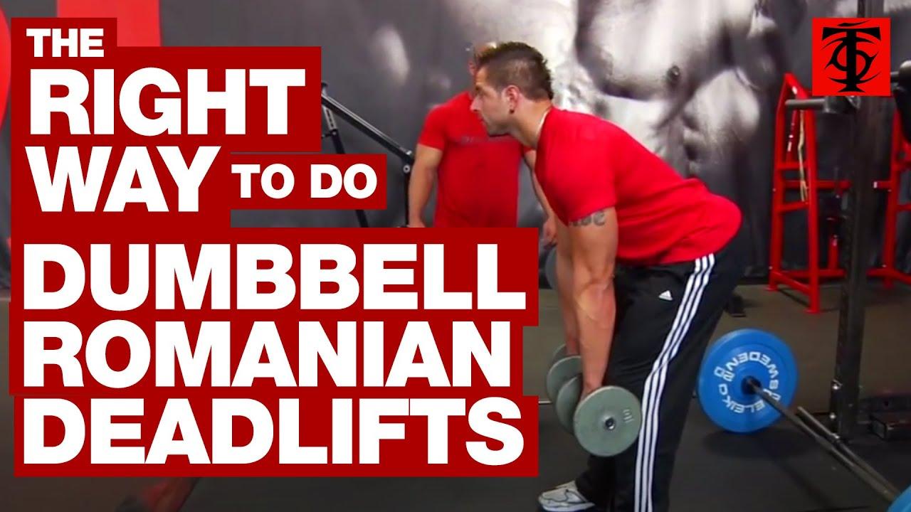 dumbbell rdl form  Dumbbell Romanian Deadlift