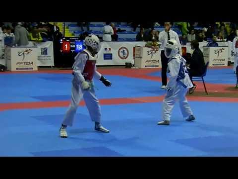 "Championnat de France taekwondo 2018 ""Bryan MENDY"" en Bleu team AS HUANG-DI"
