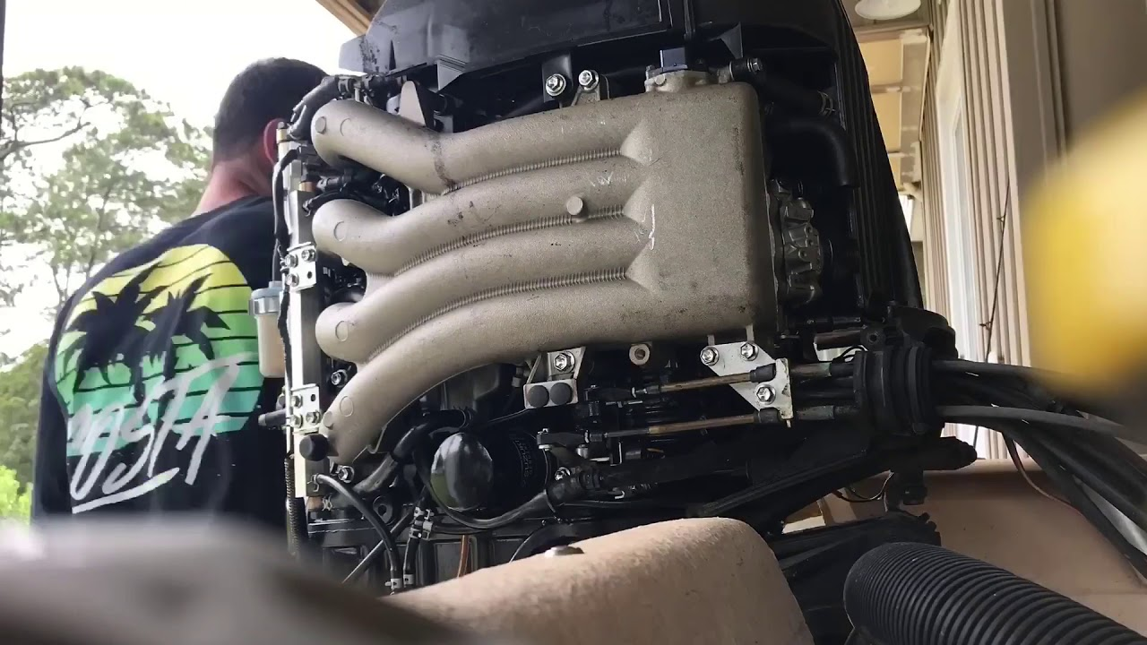 Suzuki DF90 oil change