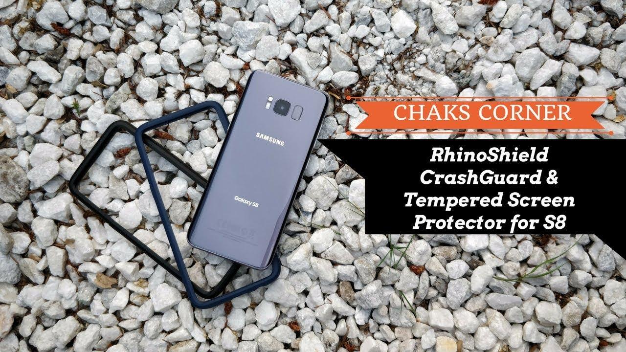 reputable site e184c 9fcfe RhinoShield CrashGuard Bumper Case & Tempered Glass Screen Protector for  Samsung Galaxy S8 Review