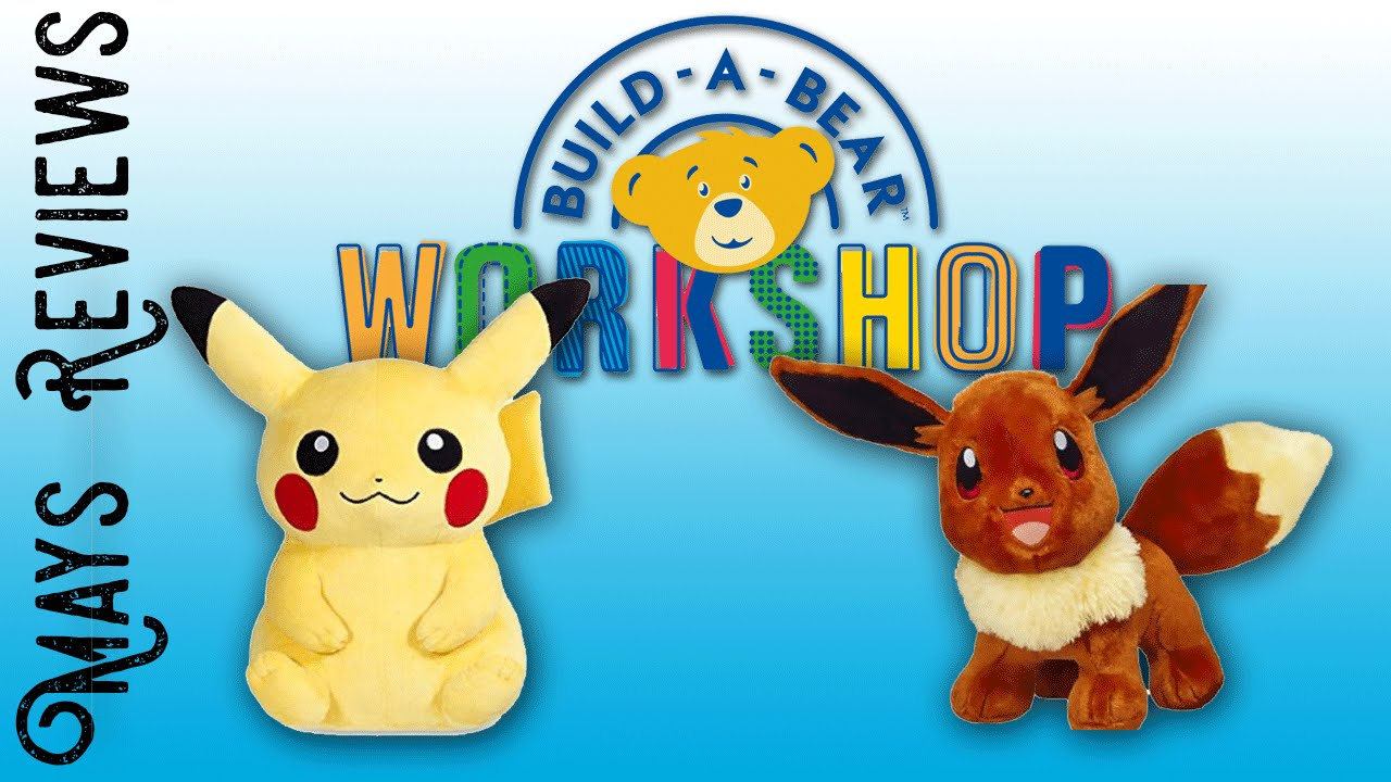 77367a2135a Mays Reviews - Pokemon Build-A-Bear Workshop - YouTube