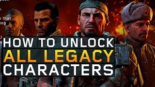 How to Unlock ALL Iconic Characters in Blackout! Mason, Reznov, Woods, & Menendez (Black Ops 4)