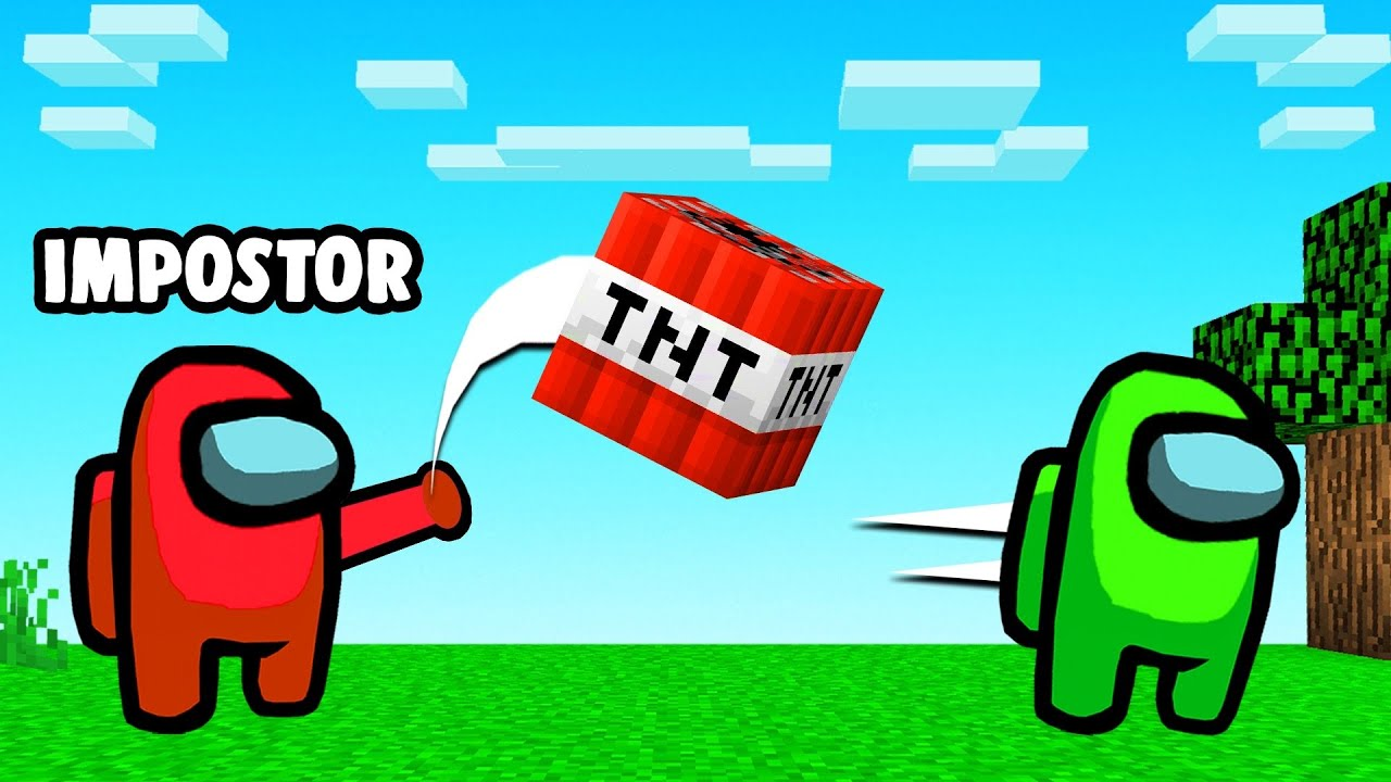Using TNT As The IMPOSTOR In Among Us! (Minecraft)
