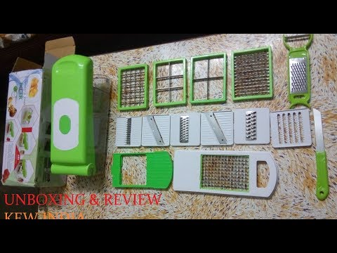 Slicer Dicer Chopper review ,unboxing kew india 13 in one