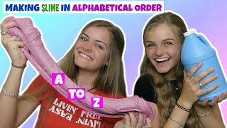 Making Slime In Alphabetical Order ~ Jacy and Kacy